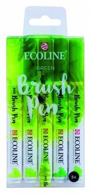 Talens Ecoline Brush Pen Set Green (11509906)