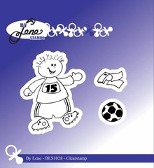 By Lene Clear Stamps Boy With Football (BLS1028)
