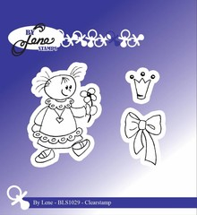 By Lene Clear Stamps Girl With Bow (BLS1029)