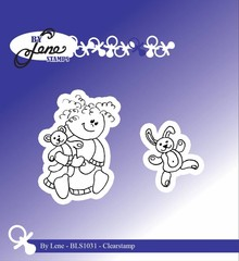 By Lene Clear Stamps Girl With Teddybear (BLS1031)