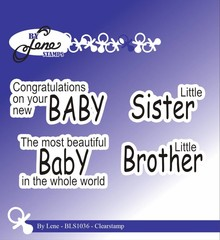 By Lene Clear Stamps Baby English Texts 1 (BLS1036)