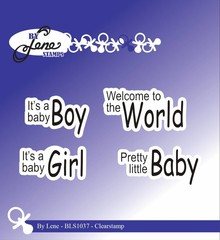 By Lene Clear Stamps Baby English Texts 2 (BLS1037)
