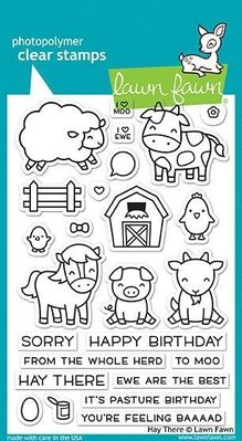 Lawn Fawn Hay There Clear Stamps (LF1595)