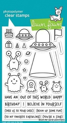Lawn Fawn Beam Me Up Clear Stamps (LF1597)