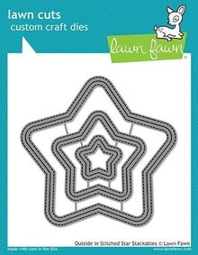 Lawn Fawn Outside In Stitched Star Stackables Dies (LF1629)