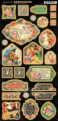 Graphic 45 Little Women Chipboard (45101662)