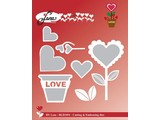 By Lene Metal Dies Love Flower (BLD1051)