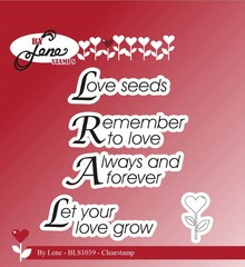 By Lene Clear Stamps Love Texts (BLS1039)