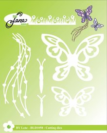 By Lene Metal Dies Butterflies (BLD1058)