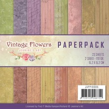 Jeanine's Art Vintage Flowers 6x6 Inch Paper Pack (JAPP10005)