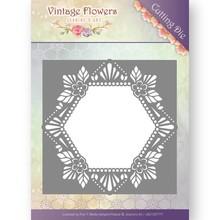 Jeanine's Art Vintage Flowers Floral Hexagon Die (JAD10031)