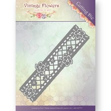 Jeanine's Art Vintage Flowers Floral Border Die (JAD10033)