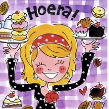 Blond Amsterdam Hoera! Wenskaart (BL193)
