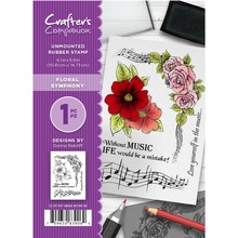 Crafter's Companion Floral Symphony Unmounted Rubber Stamp Set (CC-ST-FSY)