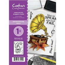 Crafter's Companion Gramophone Days Unmounted Rubber Stamp Set (CC-ST-GD)