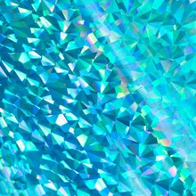 Couture Creations Heat Activated Foil Cyan Iridescent Triangular Pattern (CO726050)