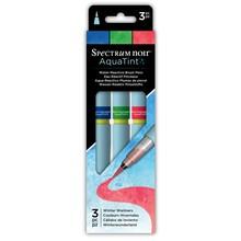 Spectrum Noir Aquatint Water-Reactive Brush Pens Winter Warmers (SPECN-AQTNT-WINT3)