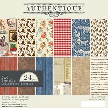 Authentique Frontier 6x6 Inch Paper Pad (FNT011)