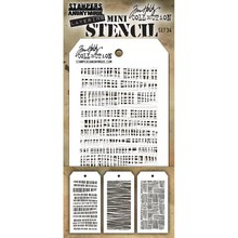 Stampers Anonimous Tim Holtz Mini Layering Stencil Set 34 (THMST034)