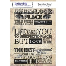 IndigoBlu Travelling Home A5 Rubber Stamp (IND0397)