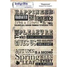IndigoBlu Happiness A5 Rubber Stamp (IND0414)