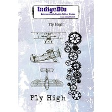 IndigoBlu Fly High A6 Ruber Stamp (IND0394)