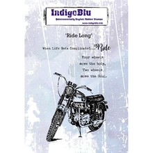 IndigoBlu Ride Long A6 Rubber Stamp (IND0395)