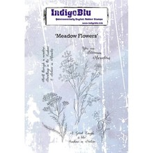 IndigoBlu Meadow Flowers A6 Rubber Stamp (IND0416)