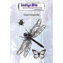 IndigoBlu Giant Dragonfly A6 Rubber Stamp (IND0417)