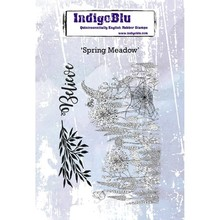 IndigoBlu Spring Meadow A6 Rubber Stamp (IND0418)