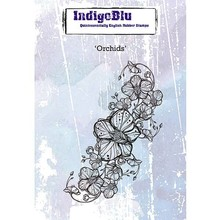 IndigoBlu Orchids A6 Rubber Stamp (IND0419)