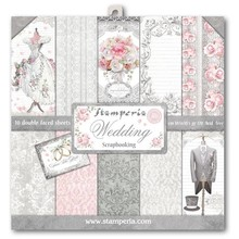 Stamperia Wedding 12x12 Inch Paper Pack (SBBL18)