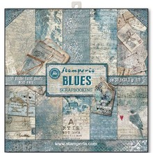 Stamperia Blues 12x12 Inch Paper Pack (SBBL26)