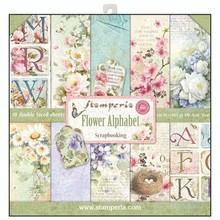 Stamperia Flower Alphabet 12x12 Inch Paper Pack (SBBL30)
