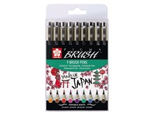 SAKURA Pigma Brush Set (9pcs) (POXSDKBR9)
