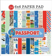 Carta Bella Passport 6x6 Inch Paper Pad (CBPAS84023)