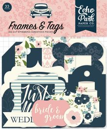 Echo Park Just Married Ephemera Frames & Tags (JM153025)