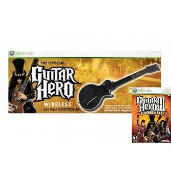 Xbox 360 Guitar Hero Legends of Rock Wireless Bundle