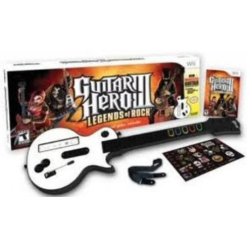 Wii Guitar Hero Legends of Rock Bundle