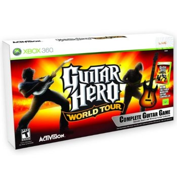 Xbox 360 Guitar Hero World Tour incl. Gitaar kopen