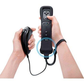 Wii Nintendo Wiimote Wii Motion Plus met Nunchuck Zwart kopen