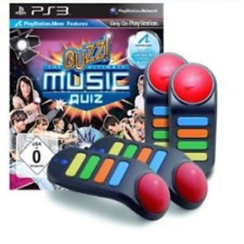 PS3 Buzz! The Ultimate Music Quiz with 4 buzzers