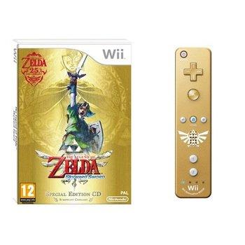 Wii Legend of Zelda: Skyward Sword with Golden Wii Controller