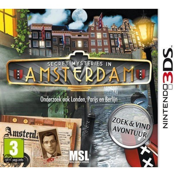 3DS Used: Secret Mysteries in Amsterdam