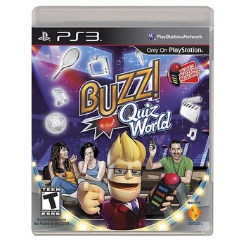 PS3 Buzz! Quiz World with 4 Buzzers
