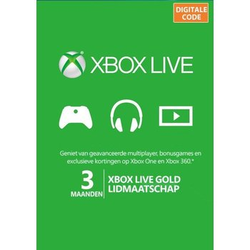 Xbox One Xbox Live Gold kopen - 3 maanden Digital Download Code