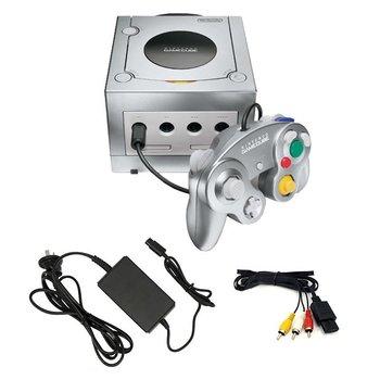 Gamecube Nintendo Zilver met controller