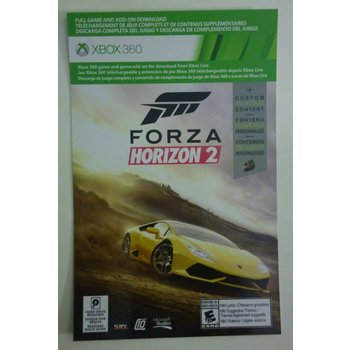 Xbox 360 Forza Horizon 2 Digital Download Code