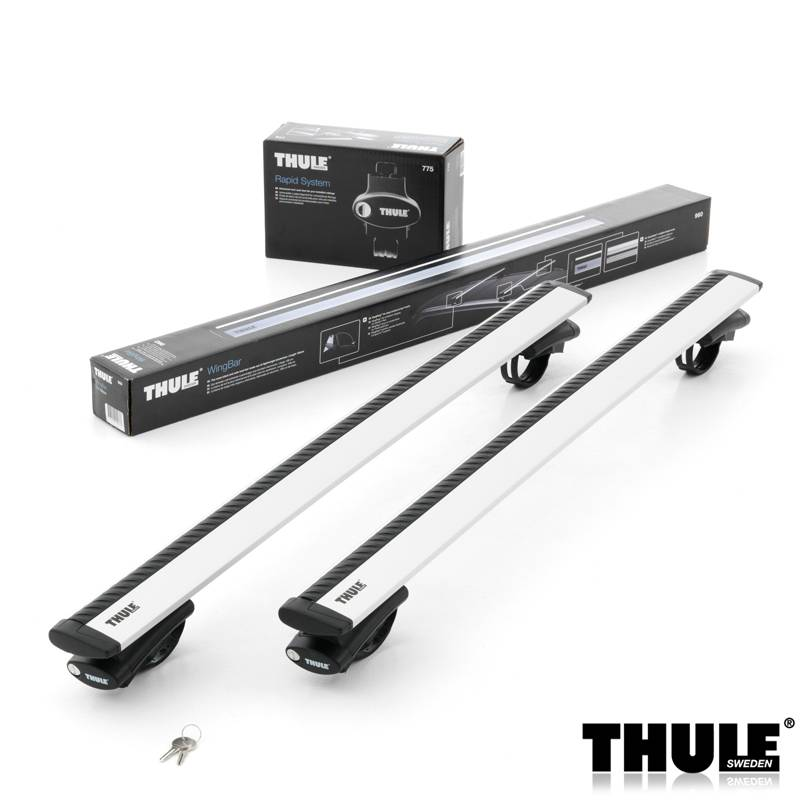 thule dachtr ger wingbar f r spec offene dachreling 775. Black Bedroom Furniture Sets. Home Design Ideas