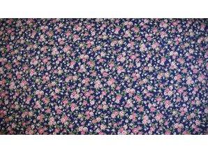 Sevenberry Donkerblauwe ondergrond met rose roosjes
